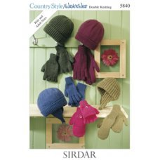 Womens Accessories in Country Style Dk (5840)