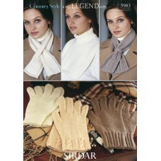 Womens Gloves, Scarf and Windcheater in Country Style 4 Ply (5983)