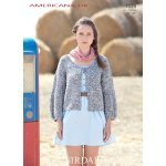 Womens Scoop Neck Cardigan in Sirdar Americana DK (7028)