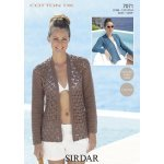 Womens crochet jacket in Sirdar Cotton DK (7071)