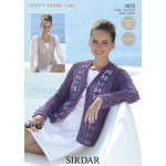 Womens crochet cardigan & waistcoat in Sirdar Cotton DK (7072)