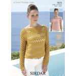 Womens crochet sweaters in Sirdar Cotton DK (7075)