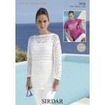 Womens crochet Tunics in Sirdar Cotton DK (7076)