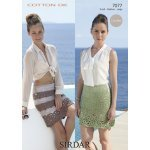 Womens crochet Skirts in Sirdar Cotton DK (7077)