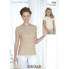 Womens and Childrens tops in Sirdar Soukie DK (7088)