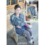 Womens shawl in Sirdar Hush (7094)