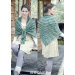 Womens shawl in Sirdar Hush (7100)