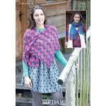 Womens scarf and shawl in Sirdar Hush (7101)