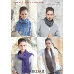 Womens Snoods & Scarves in Sirdar Wool Rich Aran (7183)