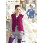 Womens Cardigan and Waistcoat in Sirdar Wool Rich Aran (7184)