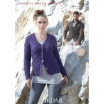Womens Cardigans in Sirdar Wool Rich Aran (7186)