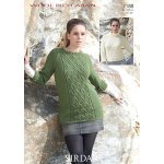 Womens sweaters in Sirdar Wool Rich Aran (7188)