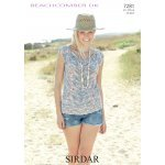 Womens V-Neck Top in Beachcomber DK (7281)