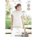 Womens Crochet Top in Sirdar Cotton 4 ply (7305)