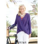 Womens Crochet Top in Sirdar Cotton 4 ply (7306)