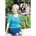 Womens Tops in Sirdar Cotton 4 ply (7309)