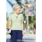 Womens Top and Gloves in Sirdar Cotton 4 ply (7310)