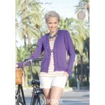 Womens Cardigans in Sirdar Cotton 4 ply (7312)