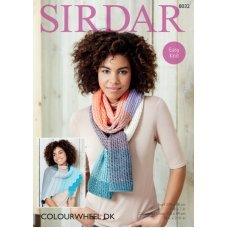 Wrap and scarf in Sirdar Colourwheel (8032)