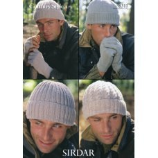Mens Hats and Gloves in Country Style 4 Ply (8311)