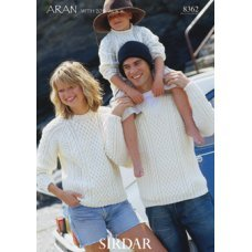 Mens Sweaters in Hayfield Bonus 400g Aran with Wool (8362)