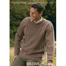 Mens Sweaters in Country Style Dk (8429)