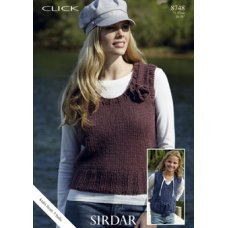Womens Tops in Click Chunky with Wool (8748)