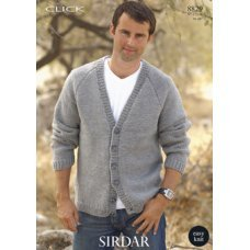 Mens Cardigans in Click Chunky with Wool (8829)