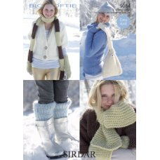 Womens Scarves, Mitts, Bags and Leg Warmers in Big Softie (9054)
