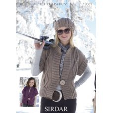 Womens Waistcoats in Click Chunky with Wool (9061)