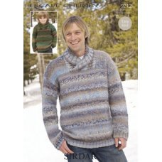 Mens Sweaters in Escape Chunky (9212)