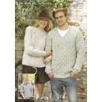 Mens, Womens & Childrens Sweaters in Hayfield Bonus 400g Aran with Wool (9219)