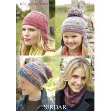 Hats and Neck Warmers in Click Dk (9227)