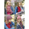 Women & Children Helmets & Wrist Warmers in Click Chunky with Wool (9229)