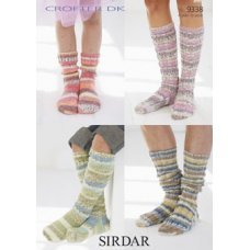 Men's, Women's and Children's Socks in Crofter Dk (9338)