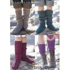 Men, Women & Children Socks in Click Chunky with Wool (9344)