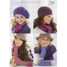 Children Scarves Hats & Gloves in Country Style 4 Ply (9348)