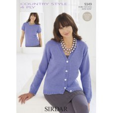 Womens Tops in Country Style 4 Ply (9349)