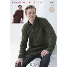 Mens Cardigans in Country Style Dk (9365)