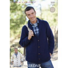 Mens Cardigans in Click Chunky with Wool (9391)