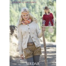 Womens Cardigans in Click Chunky with Wool (9392)