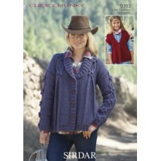 Children Cardigans in Click Chunky with Wool (9393)