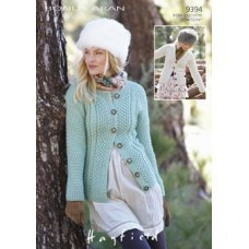Womens Cardigans in Hayfield Bonus 400g Aran with Wool (9394)