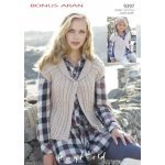 Womens Waistcoats in Hayfield Bonus 400g Aran with Wool (9397)