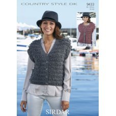 Womens Waistcoats in Country Style DK 50g  (9433)
