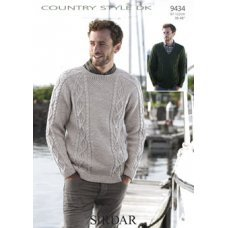 Mens Sweaters in Country Style DK 50g  (9434)