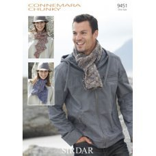 Mens Scarves & Accessories in Connemara Chunky (9451)