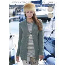 Crochet Womens Cardigan in Country Style 4 Ply (9504)