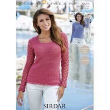 Crochet Womens Sweaters in Country Style 4 Ply (9505)