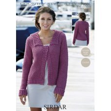 Crochet Womens Jacket in Country Style 4 Ply (9506)
